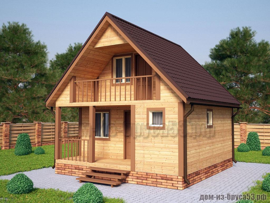 Проект №518. Дом из бруса 6х6
