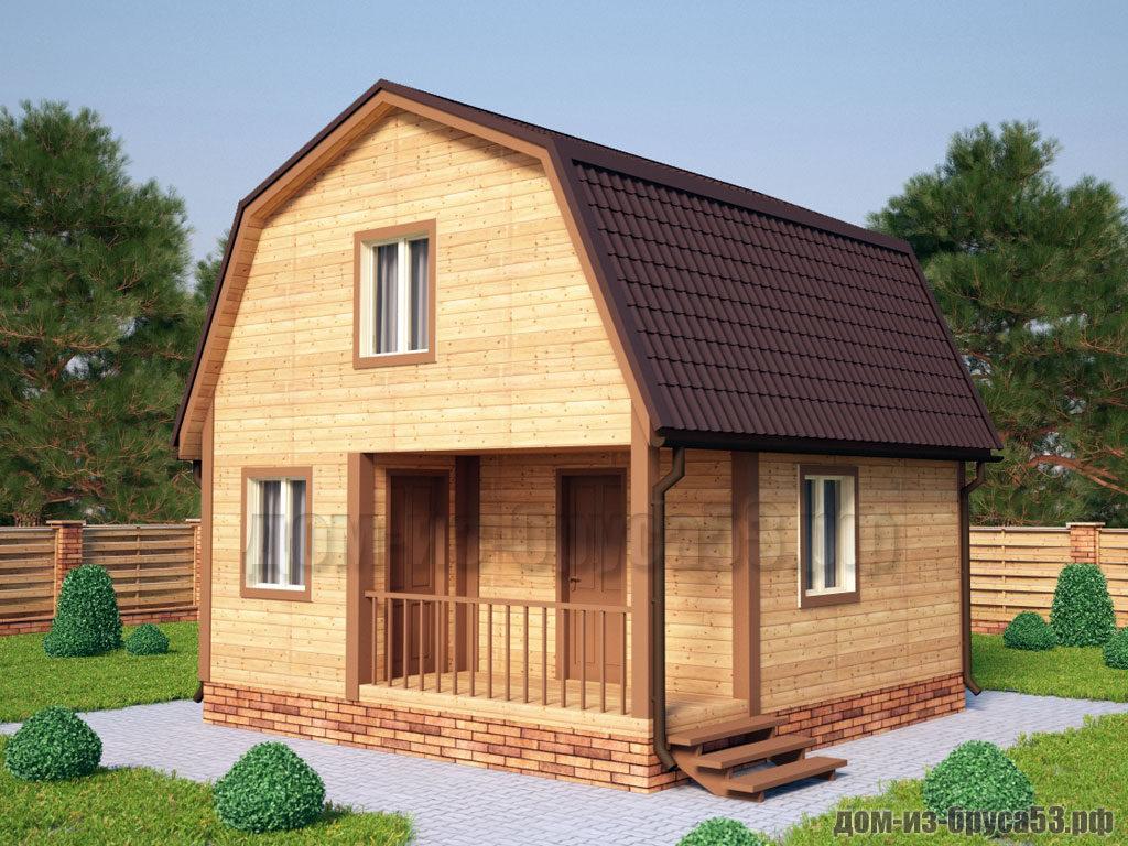 Проект №520. Дом из бруса 6х6
