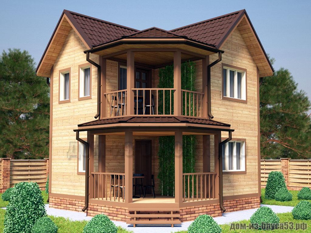 Проект №533. Дом из бруса 6.5х6.5