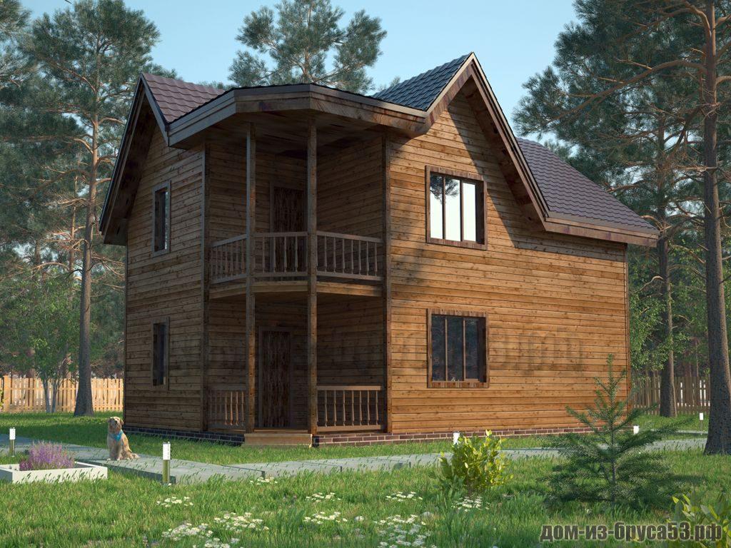 Проект №604. Дом из бруса 6х9