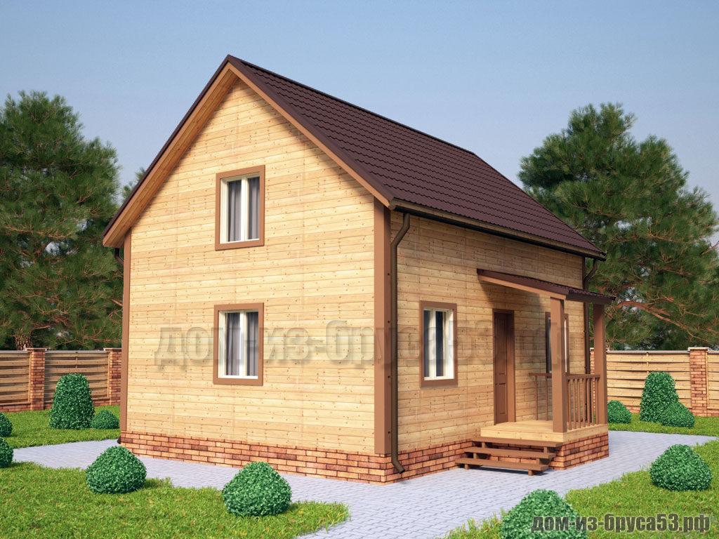 Проект №205. Дом из бруса 6х8