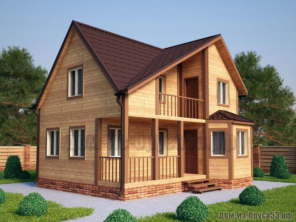 Проект №211. Дом из бруса 7.5х9
