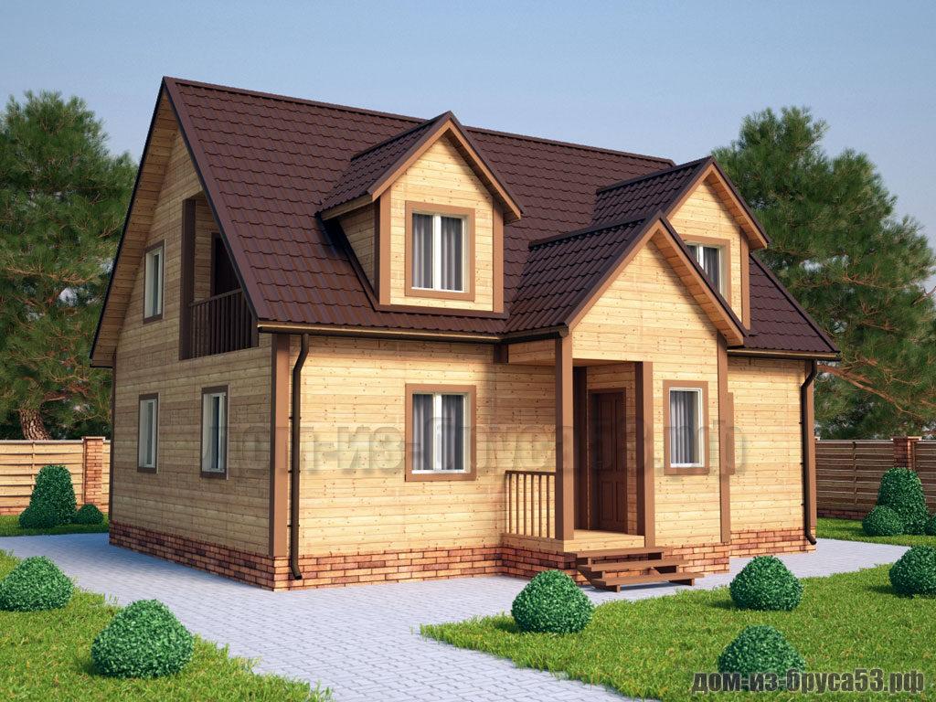 Проект №212. Дом из бруса 8х10