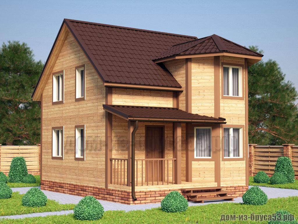 Проект №213. Дом из бруса 6х7,5