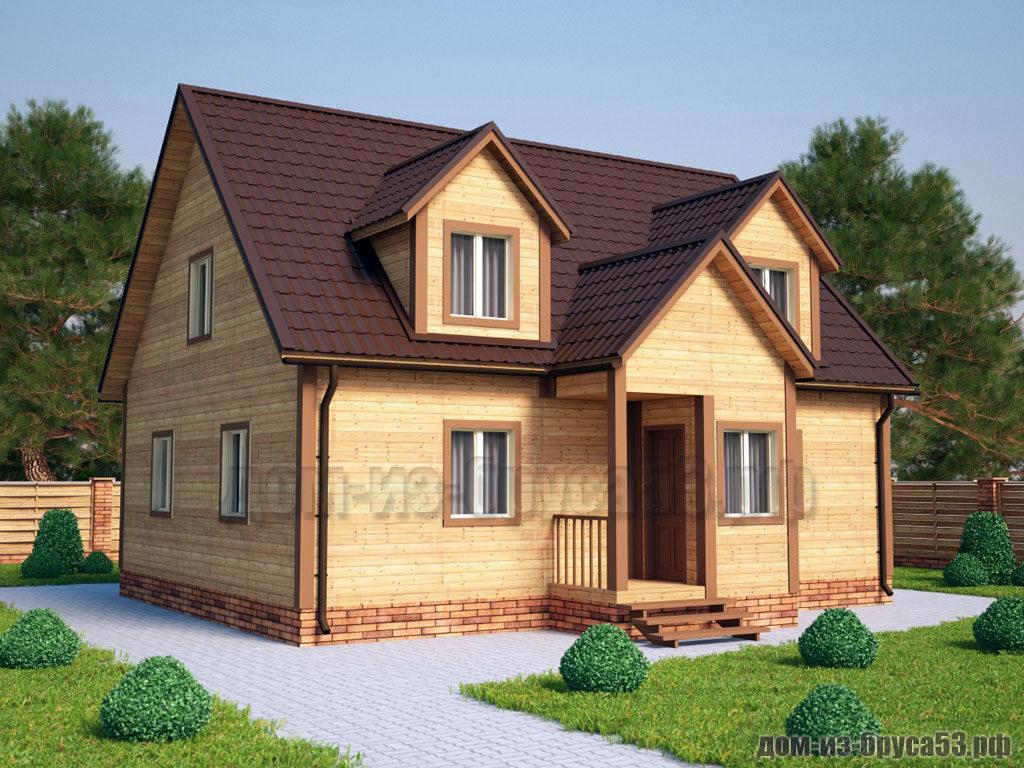 Проект №215. Дом из бруса 8х10