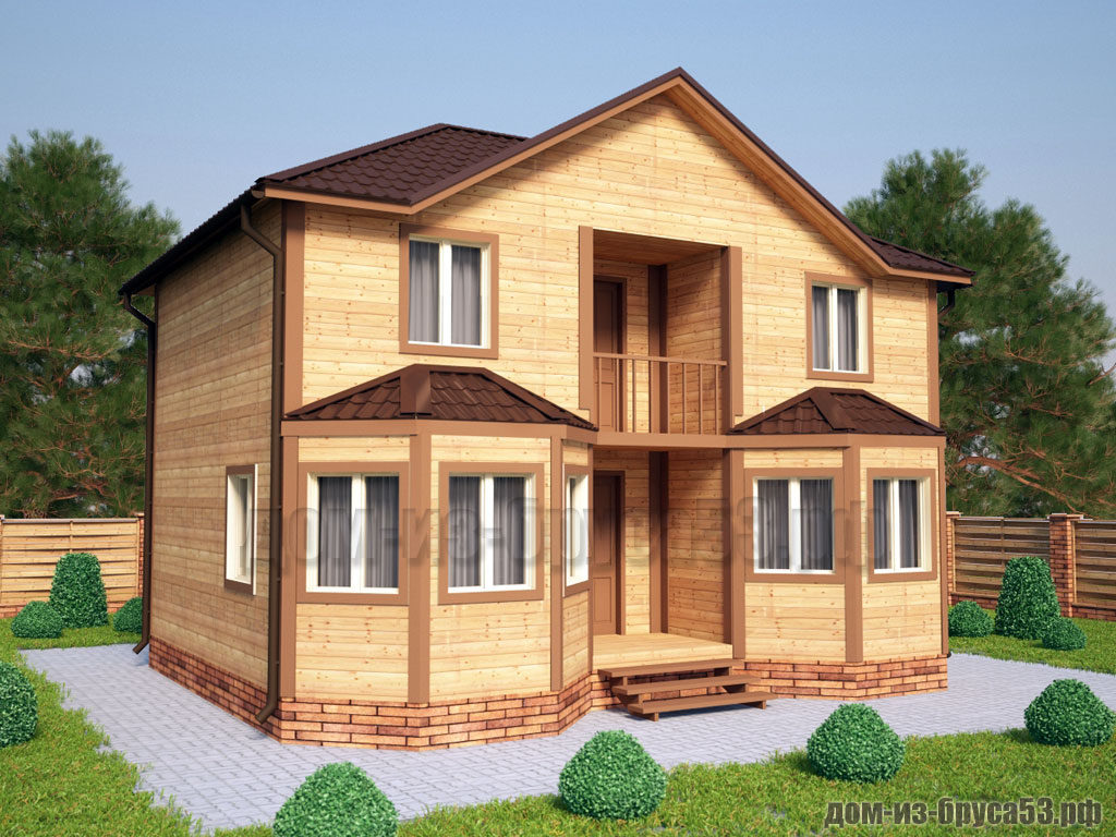 Проект №216. Дом из бруса 7х9