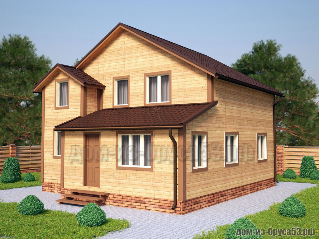Проект №217. Дом из бруса 8х9
