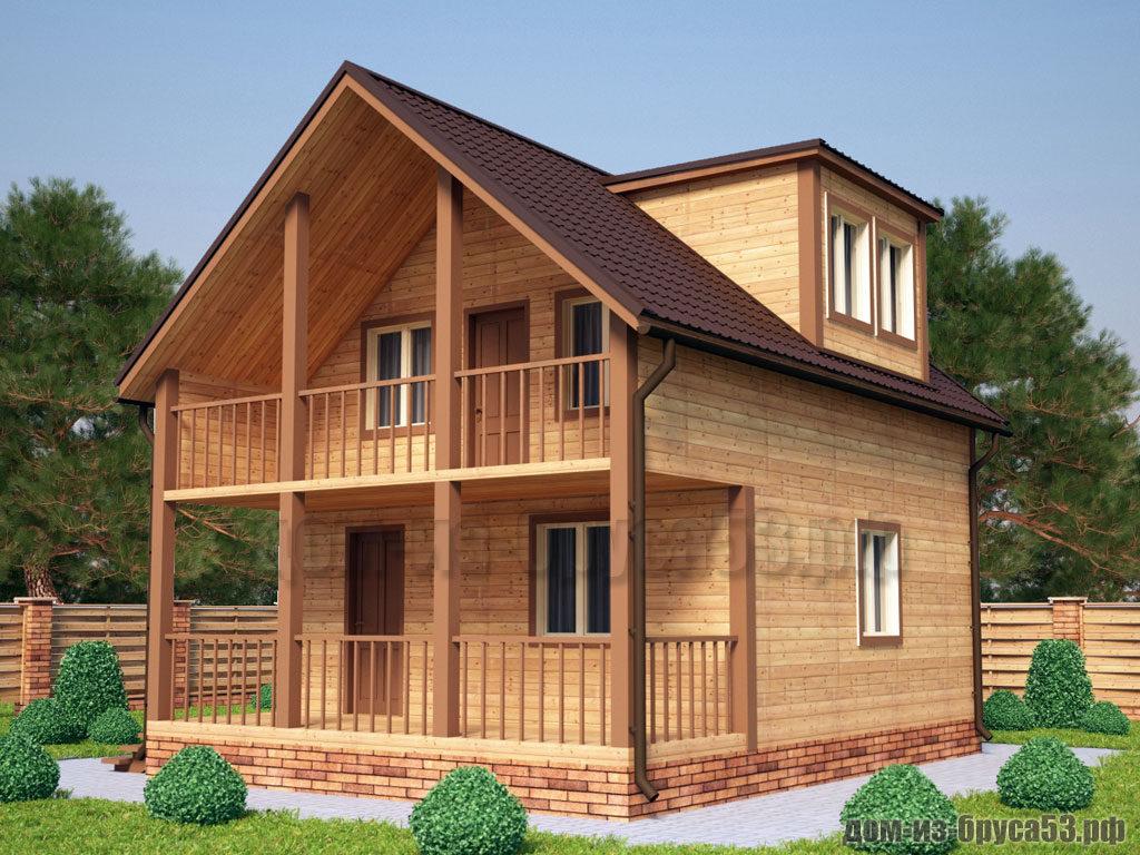 Проект №218. Дом из бруса 6х8