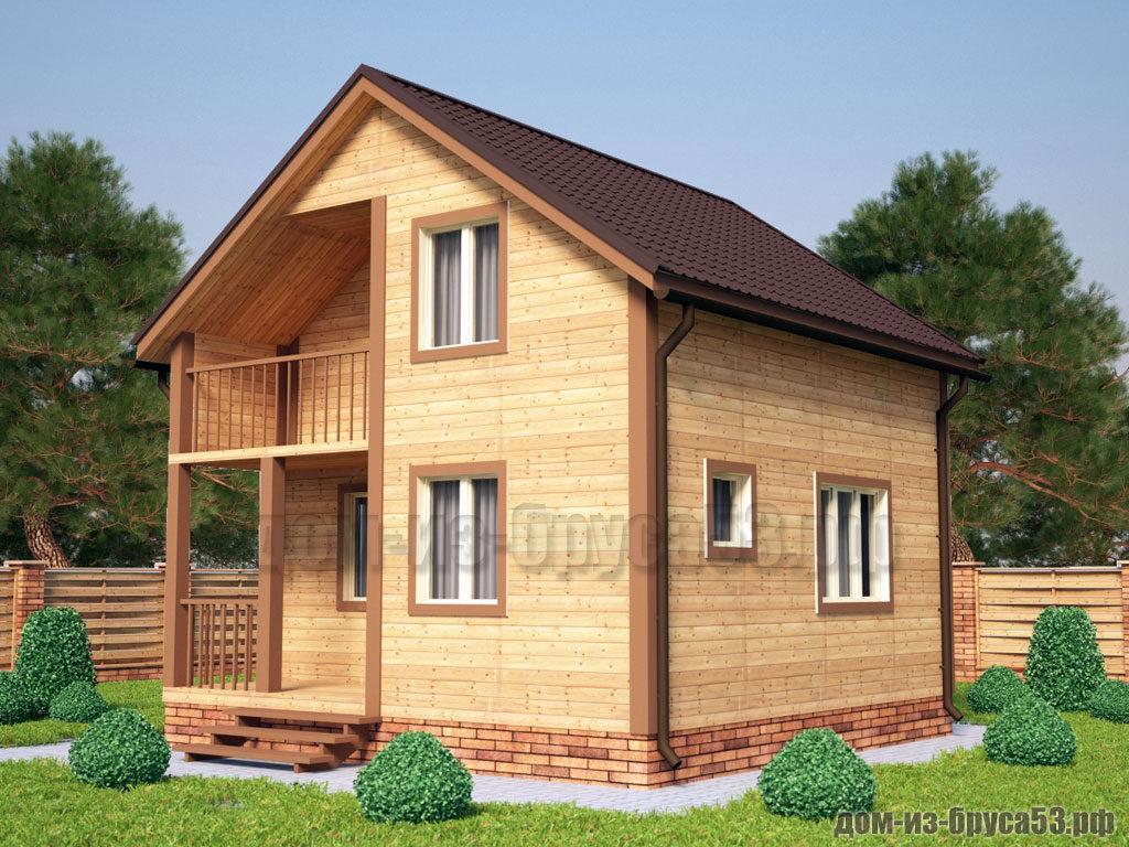 Проект №219. Дом из бруса 6х6
