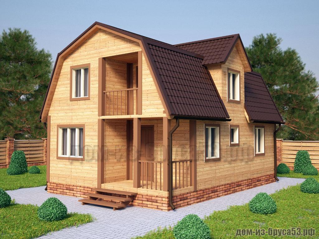 Проект №220Б. Дом из бруса 7х8