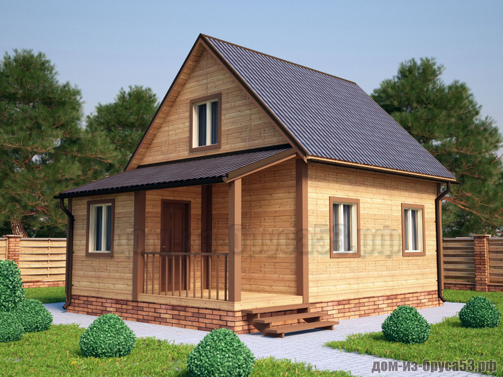 Проект №226. Дом из бруса 6х8
