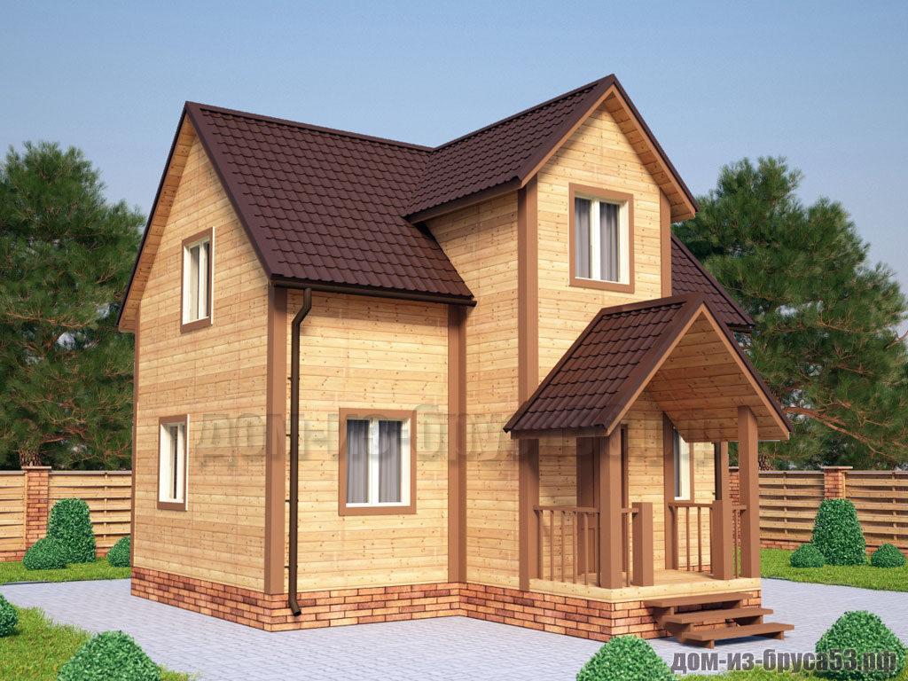 Проект №230Б. Дом из бруса 8х9