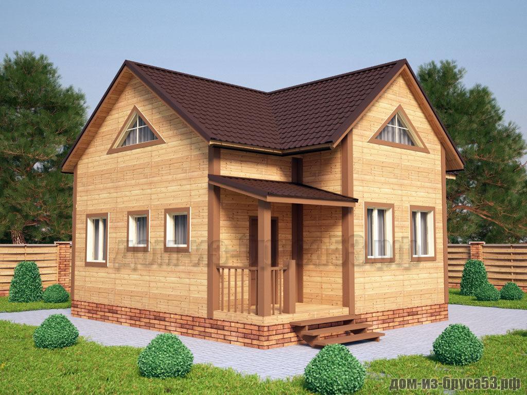 Проект №231. Дом из бруса 7.5х9
