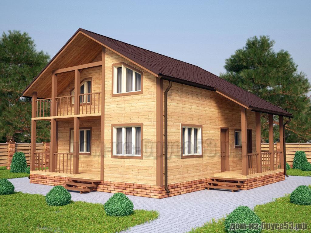 Проект №232. Дом из бруса 8х9