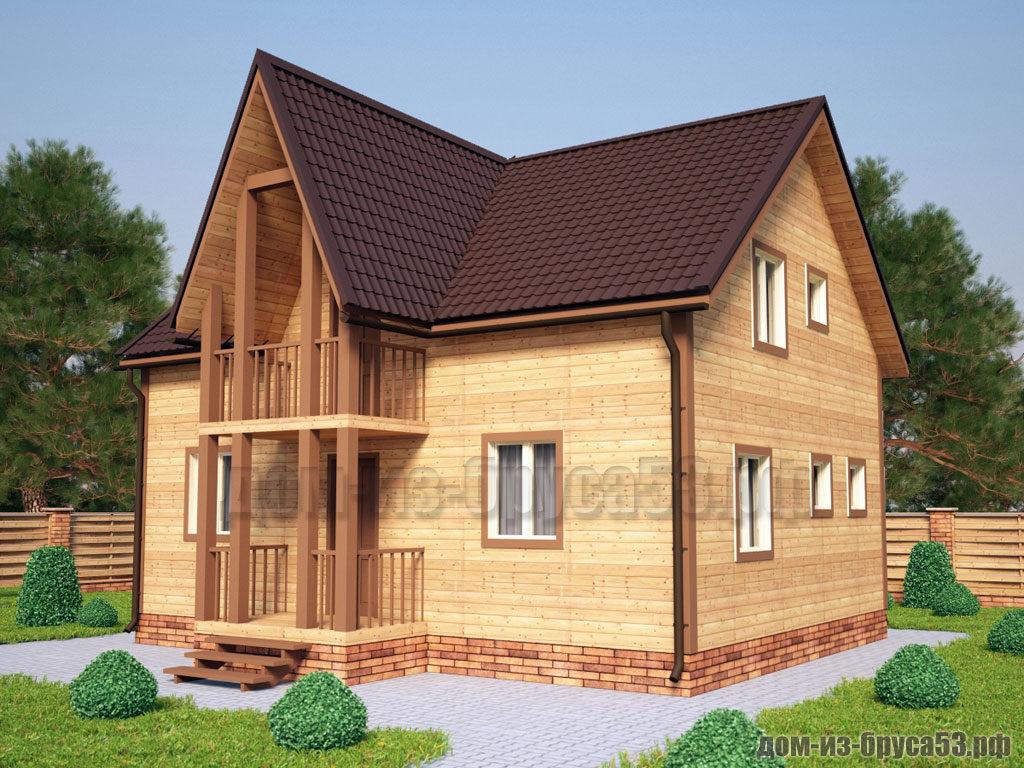 Проект №235. Дом из бруса 7х9