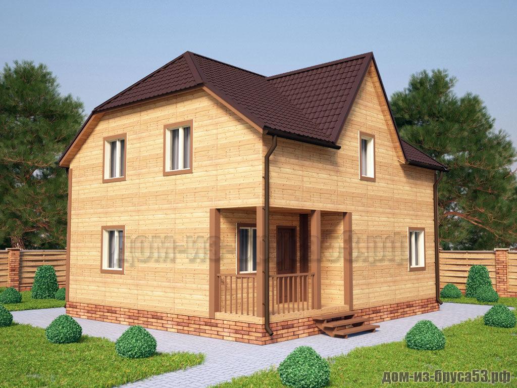 Проект №236. Дом из бруса 8х9