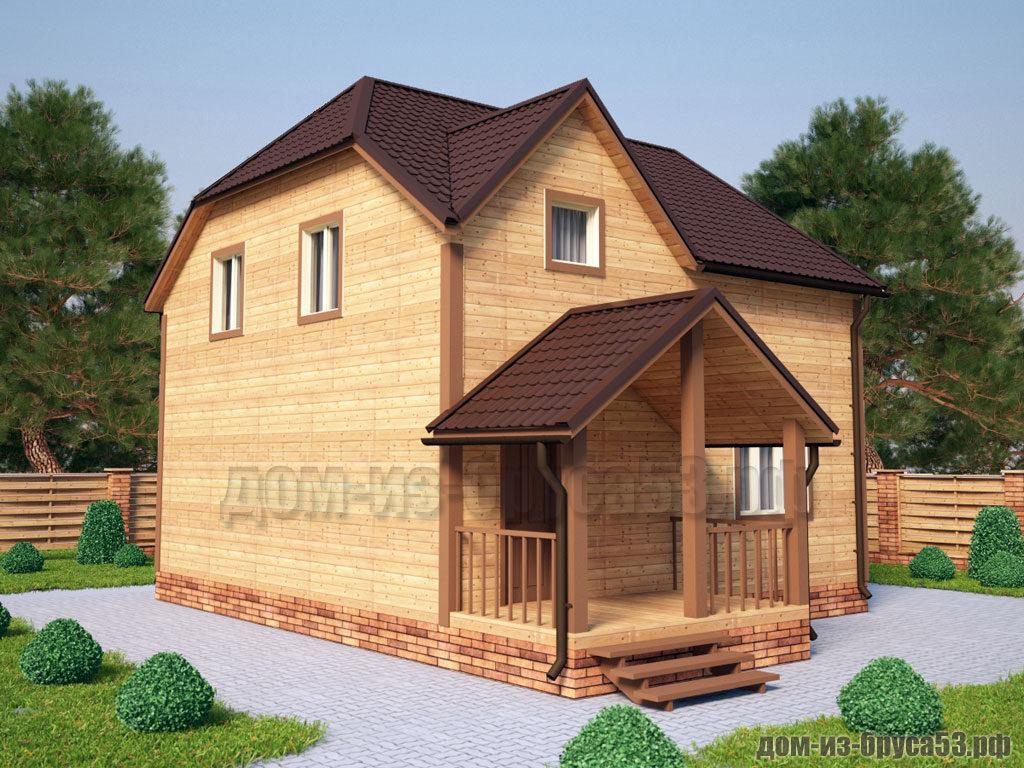 Проект №238. Дом из бруса 7.5х9