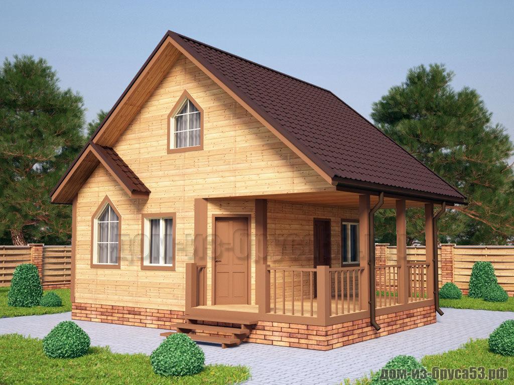 Проект №239. Дом из бруса 6.5х8