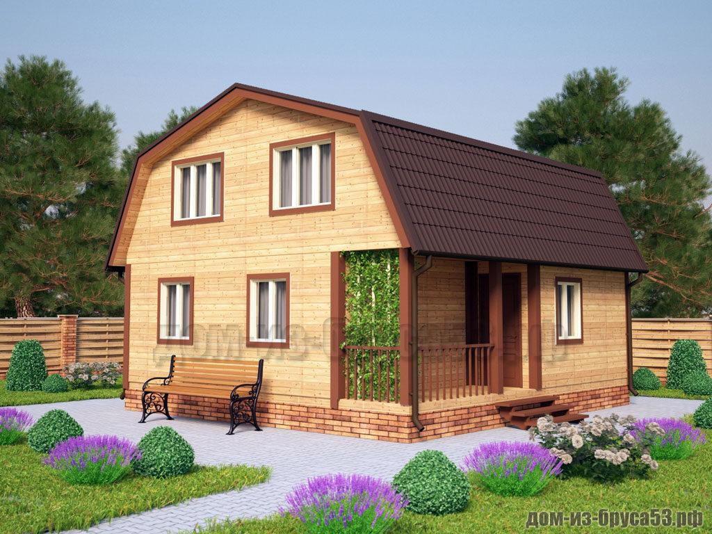 Проект №241. Дом из бруса 7.5х8