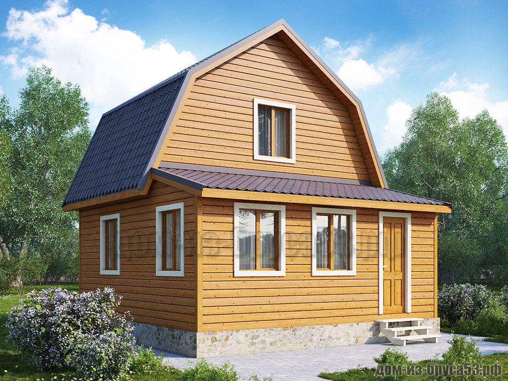 Проект №252. Дом из бруса 6х6
