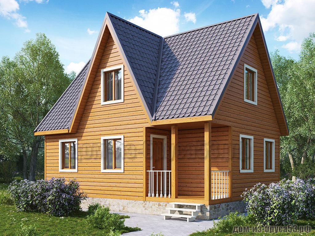Проект №253. Дом из бруса 6х8