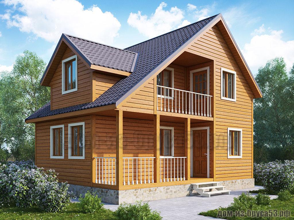 Проект №254. Дом из бруса 6х8