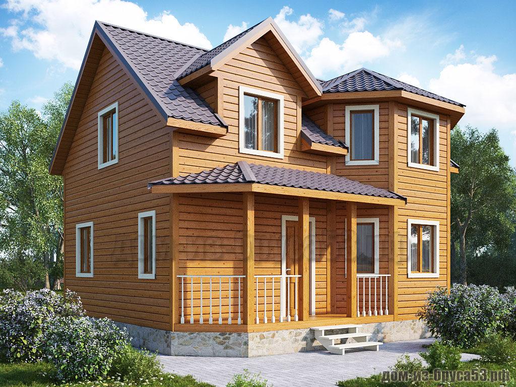 Проект №255. Дом из бруса 7х8