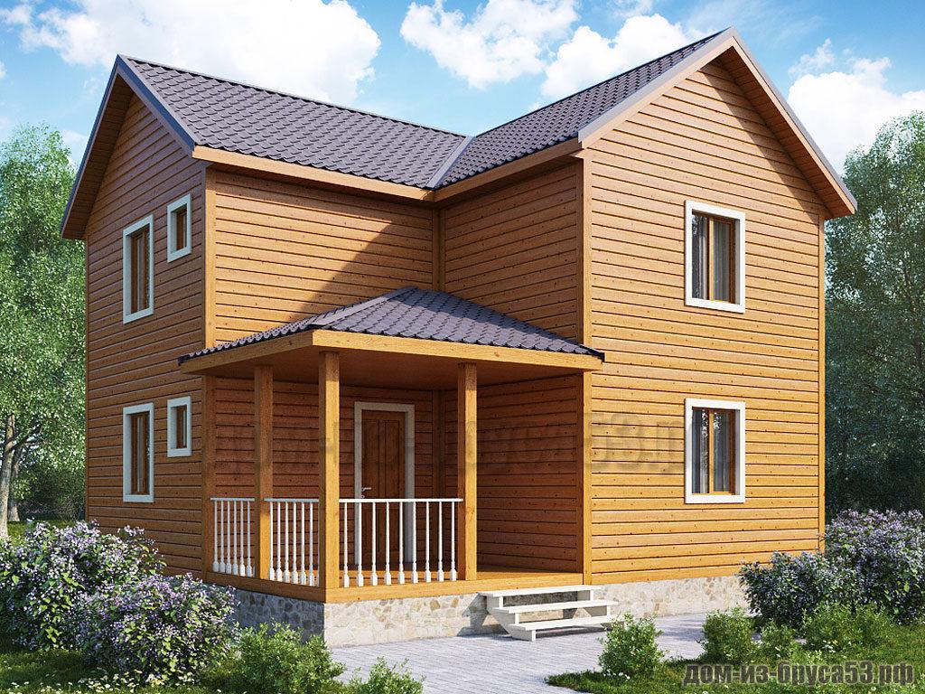 Проект №260. Дом из бруса 7.5х8