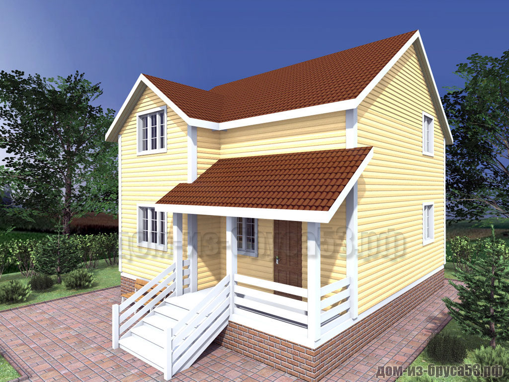 Проект №301. Дом из бруса 8х8