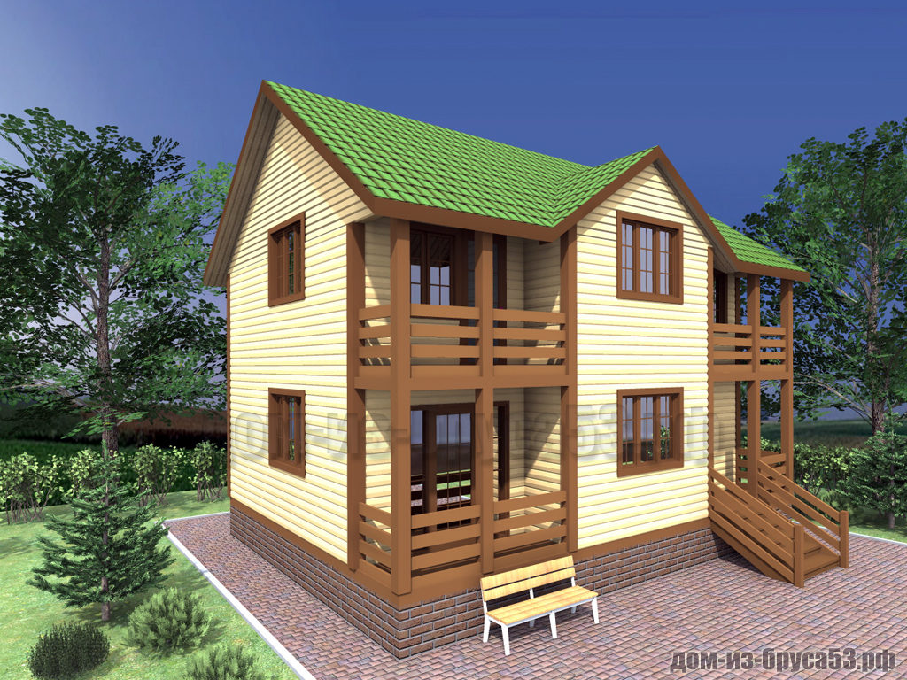Проект №305. Дом из бруса 7х9