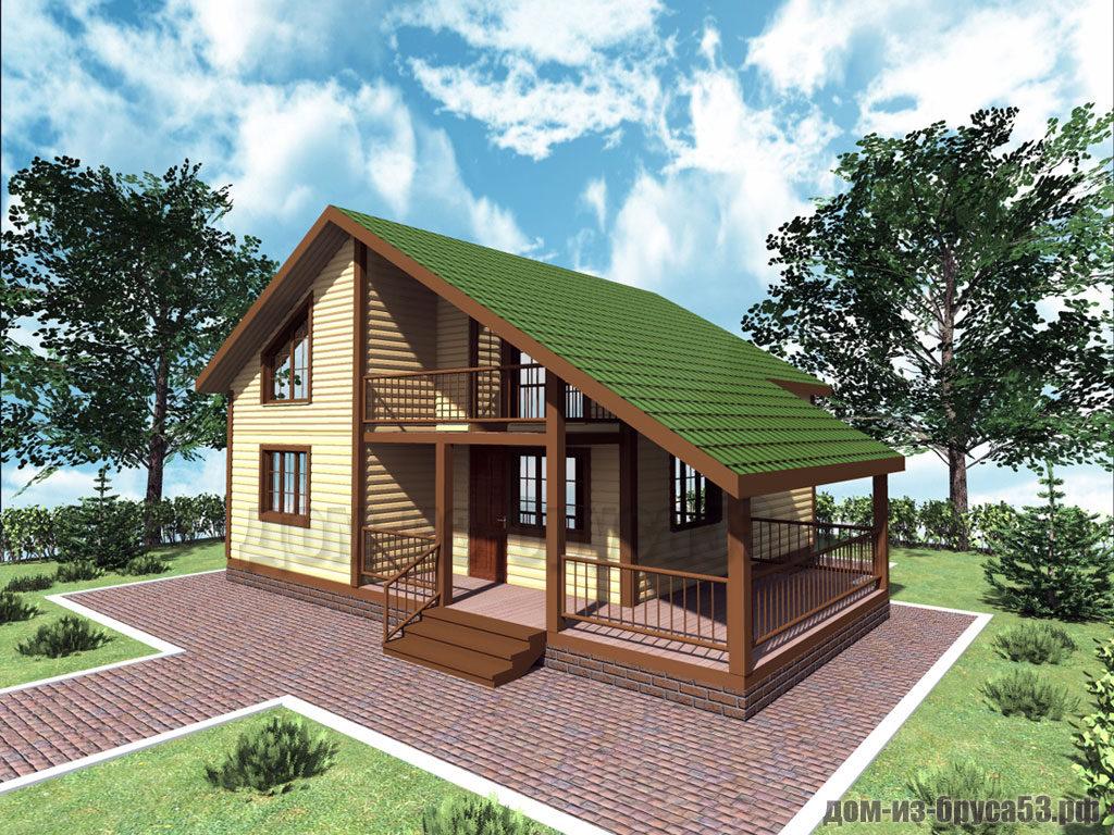 Проект №306. Дом из бруса 8х9