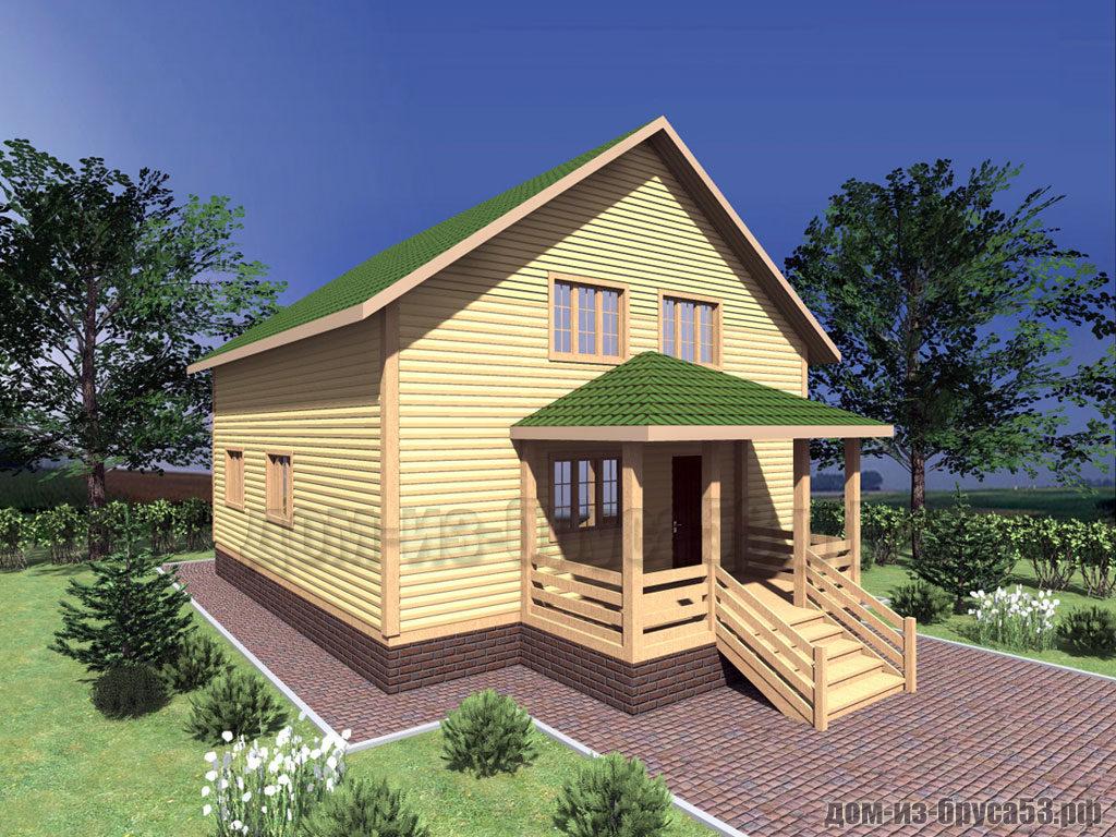 Проект №308. Дом из бруса 9х10