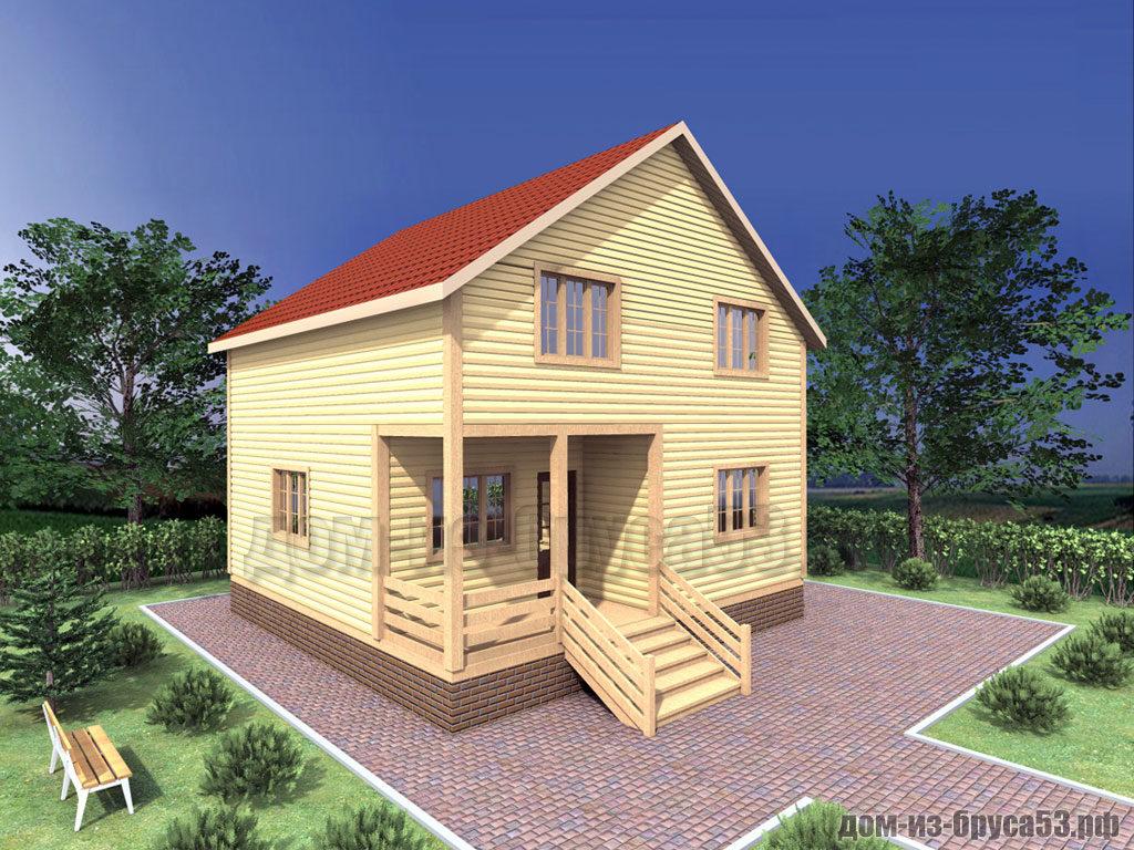 Проект №309. Дом из бруса 8х9.5