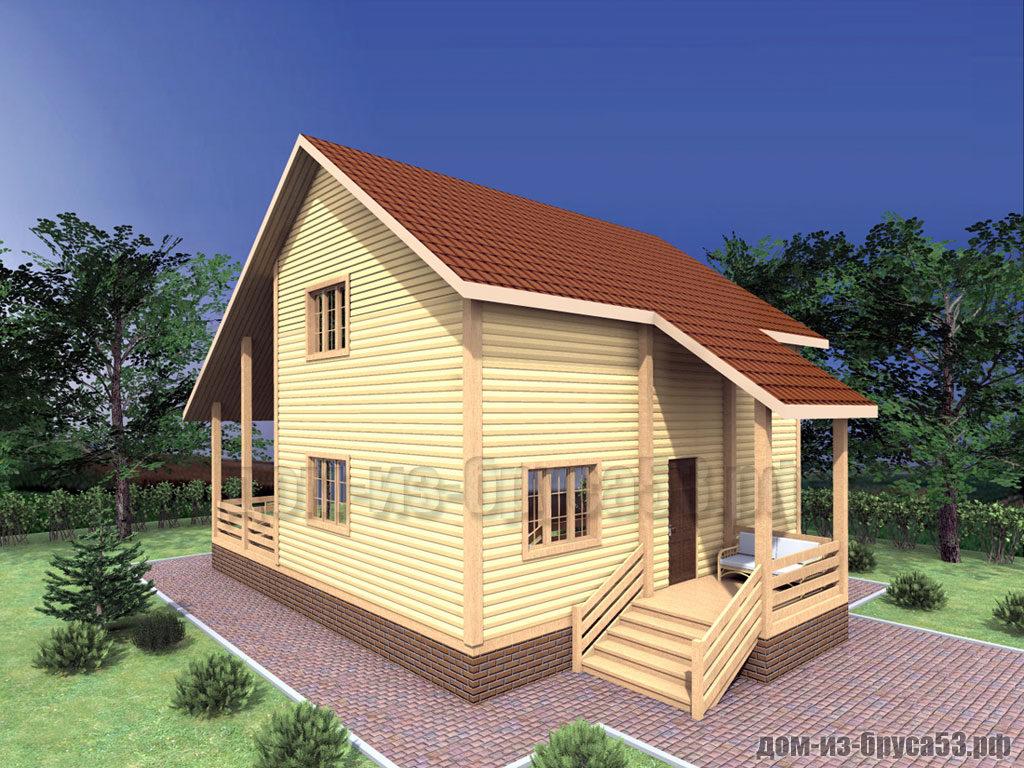Проект №310. Дом из бруса 8х9