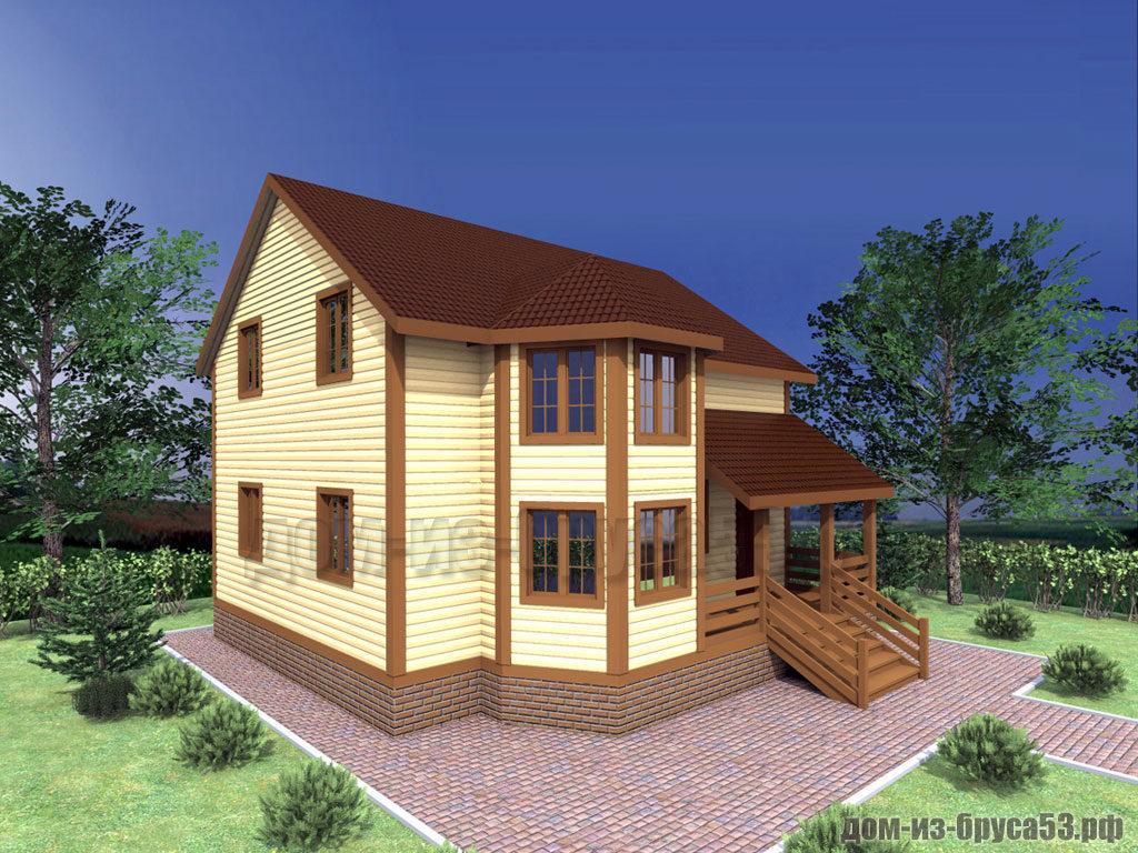Проект №311. Дом из бруса 9х9