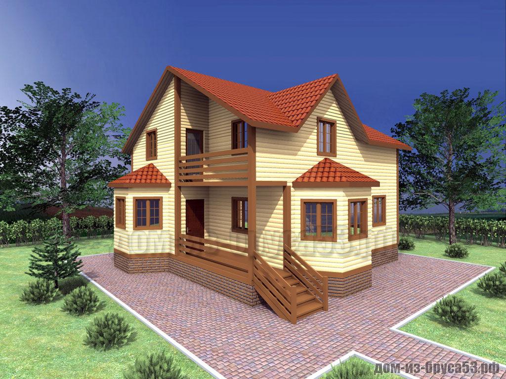 Проект №313. Дом из бруса 9х9