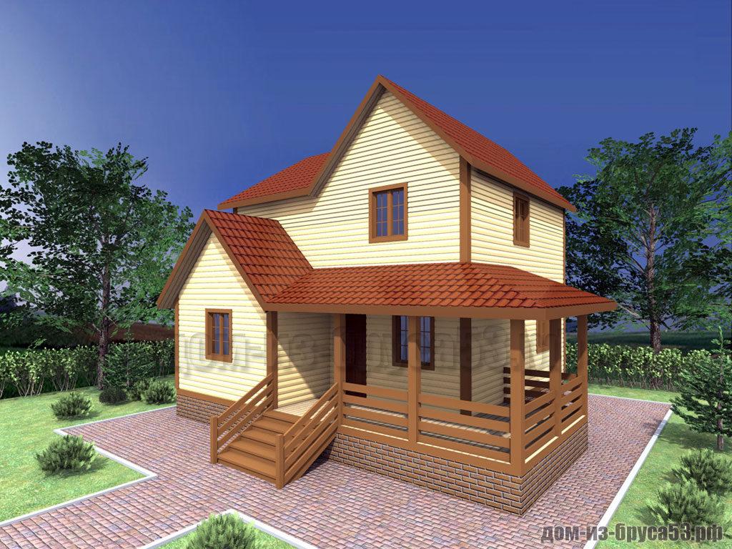 Проект №314. Дом из бруса 8х9