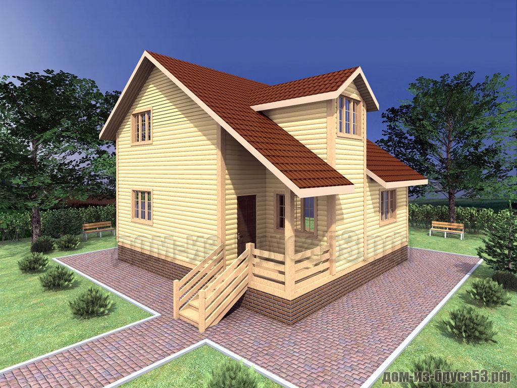 Проект №316. Дом из бруса 8х9