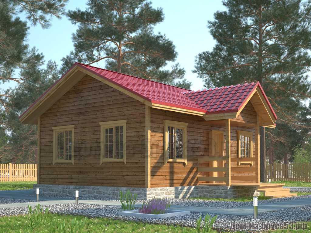 Проект №405. Дом из бруса 6х8