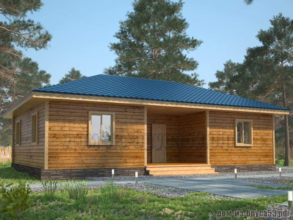 Проект №413. Дом из бруса 8х12