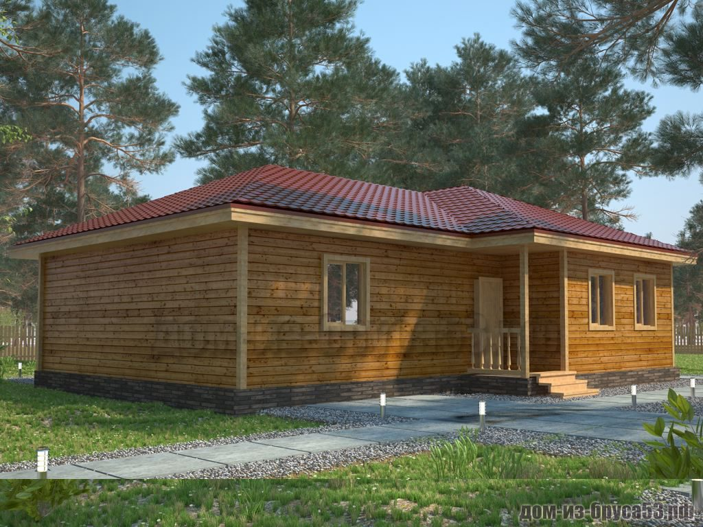 Проект №414. Дом из бруса 8х12