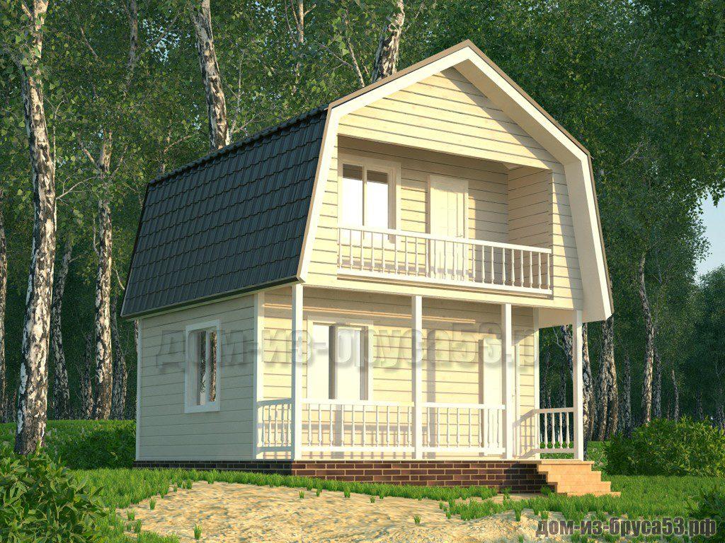 Проект №570. Дом из бруса 6х6