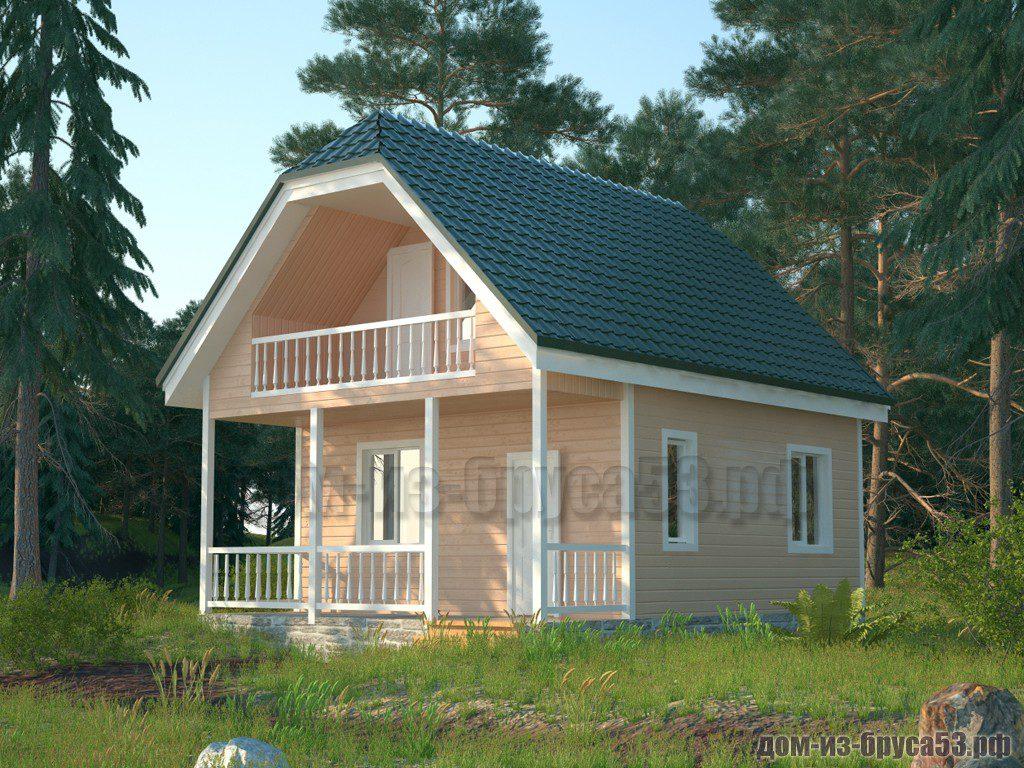 Проект №571. Дом из бруса 6х8