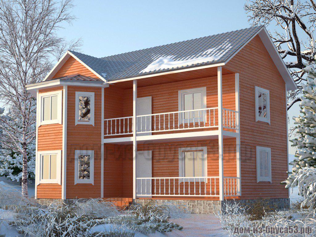 Проект №573. Дом из бруса 9х10