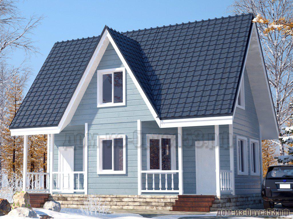 Проект №574. Дом из бруса 7х9