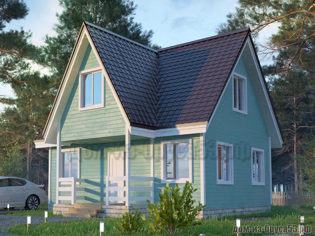Проект №576. Дом из бруса 8х8