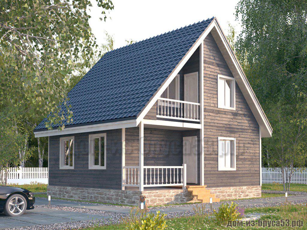 Проект №578. Дом из бруса 7.5х8