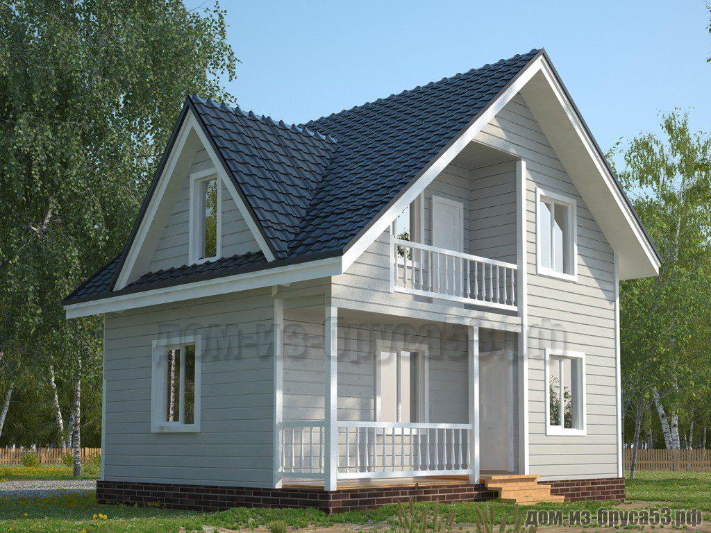 Проект №579. Дом из бруса 6х8