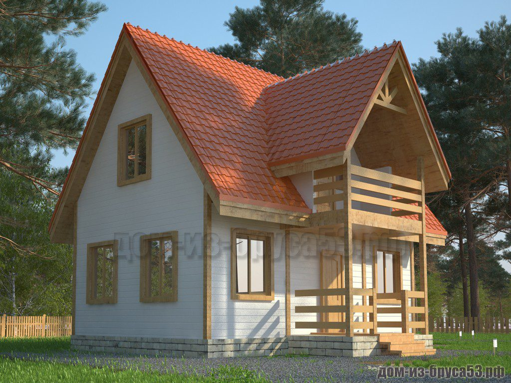 Проект №580. Дом из бруса 7х8
