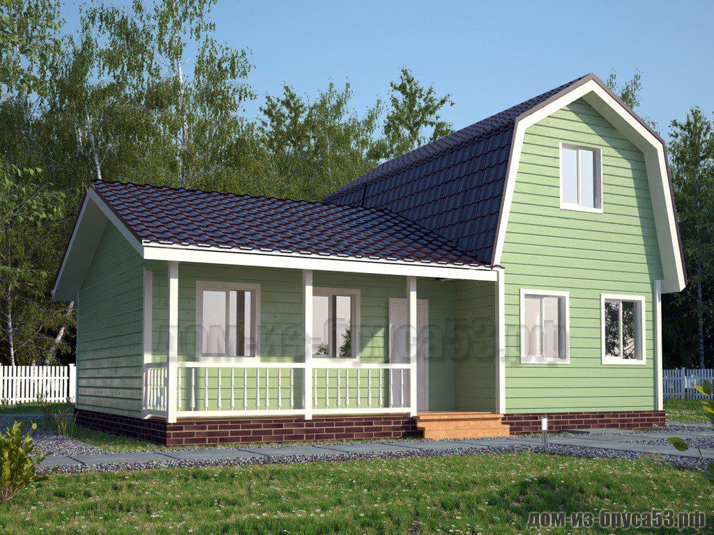 Проект №582. Дом из бруса 7.5х10
